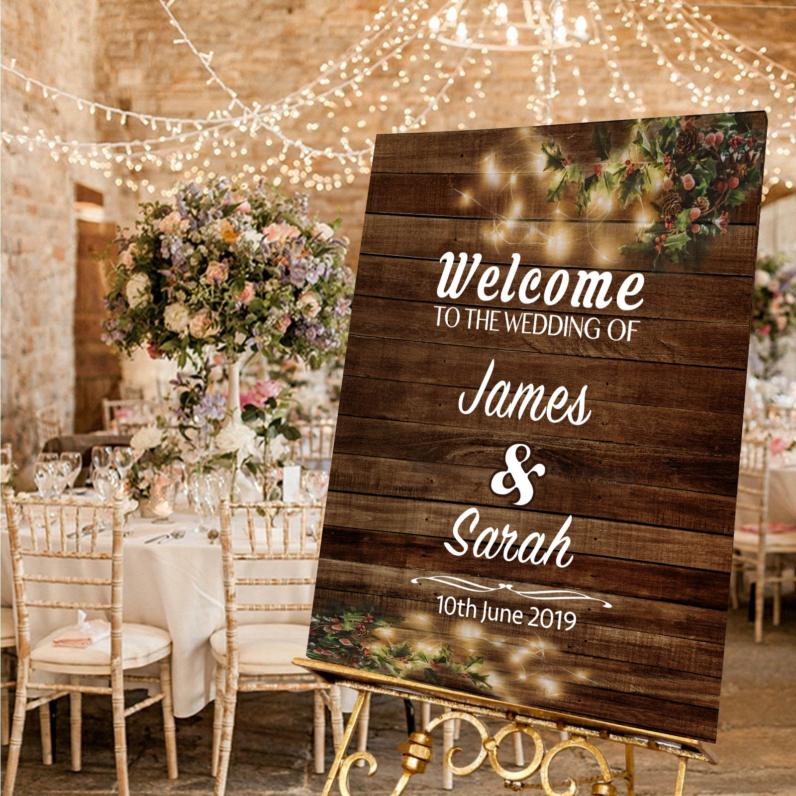 wedding welcome message board
